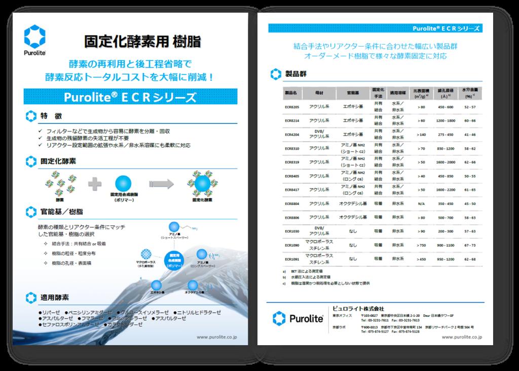固定化酵素用 樹脂2013_内容紹介