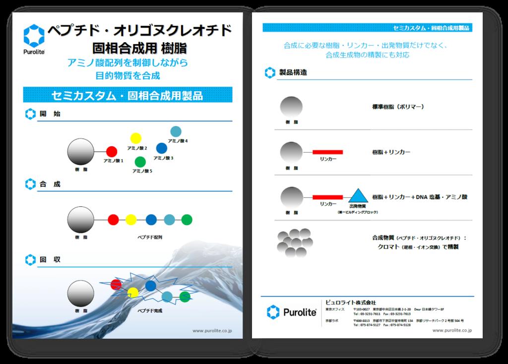 ペプチド・オリゴヌクレオチド固相合成用 樹脂2013_内容紹介