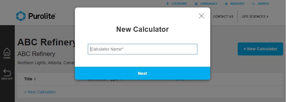 New Calculator name